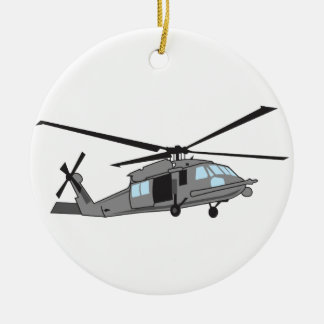 Black Hawk Helicopter Ceramic Ornament