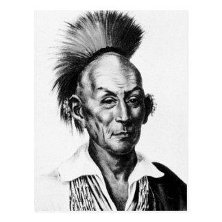 Black Hawk ~ Sac Sauk Indian Chief Postcard