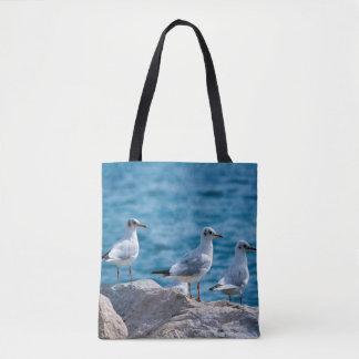 Black-headed gulls, chroicocephalus ridibundus tote bag