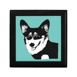 Black Headed Tricolor Welsh Corgi Gift Box