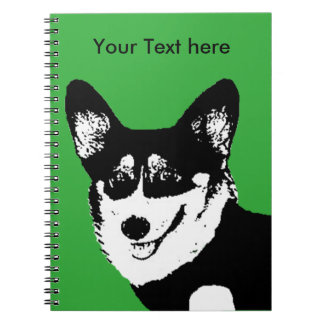 Black Headed Tricolor Welsh Corgi Spiral Notebook