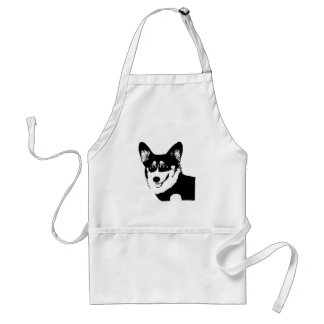 Black Headed Tricolor Welsh Corgi Standard Apron