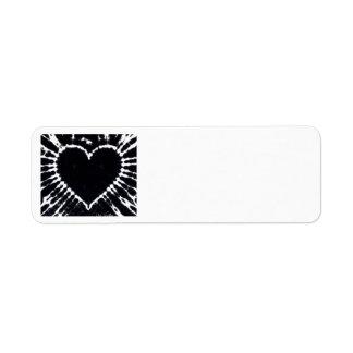 Black Heart address labels ORIGINAL DESIGN