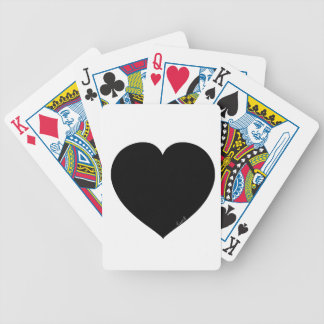 Black Heart Bicycle Playing Cards