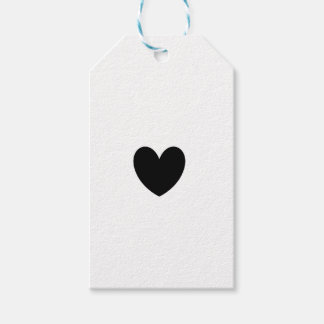 Black Heart Gift Tags Pack Of Gift Tags