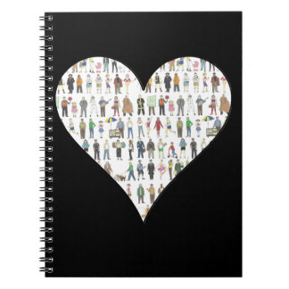 Black Heart NYC New York City Notebook