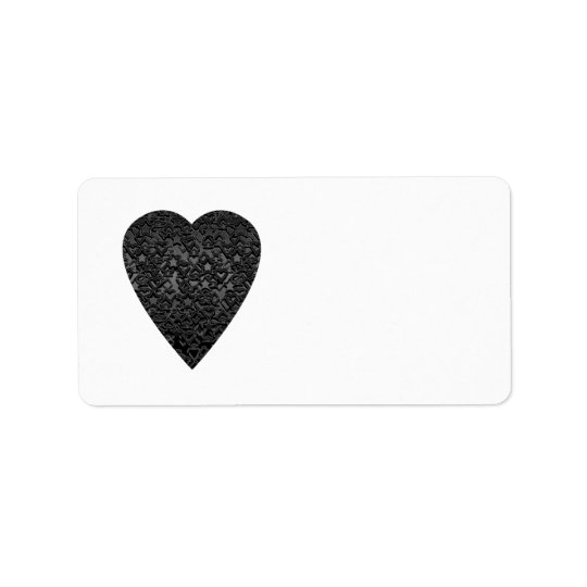 Black Heart. Patterned Heart Design.
