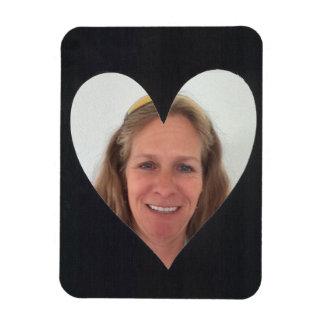 Black Heart Photo Frame Rectangular Photo Magnet