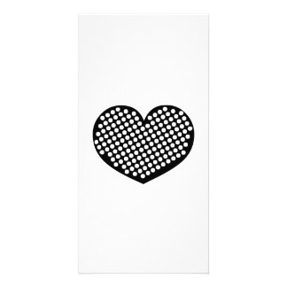 Black Heart Picture Card