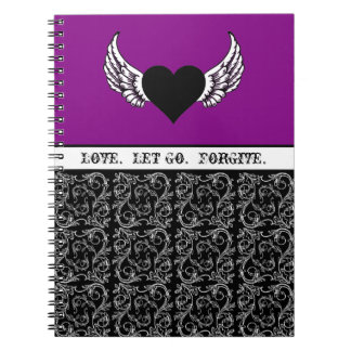 Black Heart, White Wings Notebook