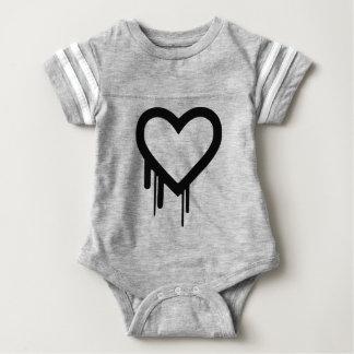 Black Heartbleed Dripping heart Baby Bodysuit