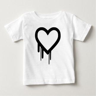 Black Heartbleed Dripping heart Baby T-Shirt
