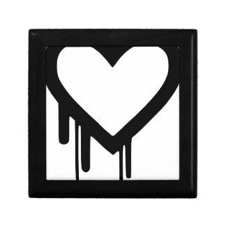 Black Heartbleed Dripping heart Gift Box