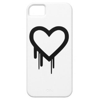 Black Heartbleed Dripping heart iPhone 5 Cases