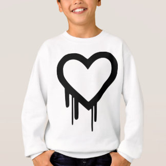 Black Heartbleed Dripping heart Sweatshirt