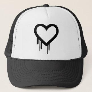 Black Heartbleed Dripping heart Trucker Hat