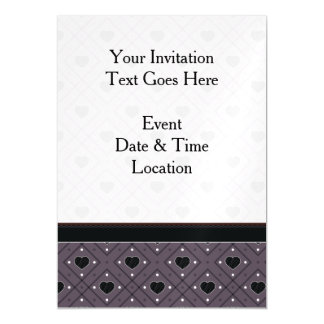 Black Hearts And Dots Plaid Pattern With Border Magnetic Card