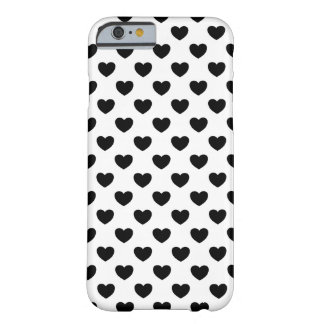Black hearts on Weis, nobly, impudently and young Barely There iPhone 6 Case