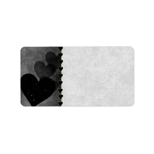 Black Hearts Pattern