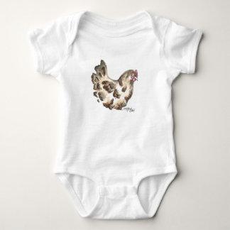 Black Hen Infant Bodysuit Artwork by Deja Wolfe