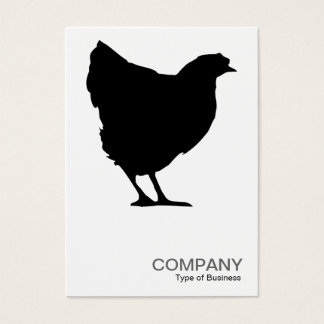 Black Hen Symbol 02 - White Business Card