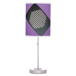 BLACK HEX TICKING WITH WHITE AND PURPLE TRIM LAMP