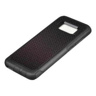Black Hexagonal Carbon Fiber Honeycomb Mesh OtterBox Commuter Samsung Galaxy S8 Case