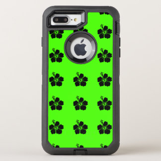 Black Hibiscus Neon Green OtterBox Defender iPhone 8 Plus/7 Plus Case
