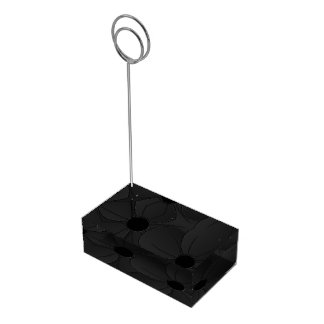 Black Hibiscus Wedding Table Number Card Stands Table Card Holders