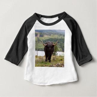 Black Highland cattle, Scotland Baby T-Shirt