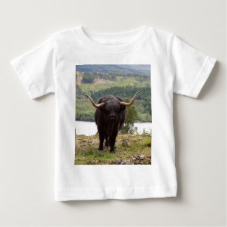 Black Highland cattle, Scotland Baby T-Shirt