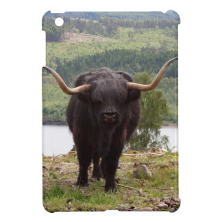 Black Highland cattle, Scotland Case For The iPad Mini