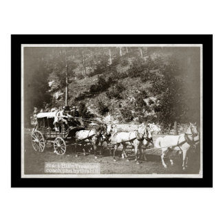Black Hills Treasure Coach Vintage Postcard
