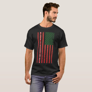 Black History Day Flag T-Shirt