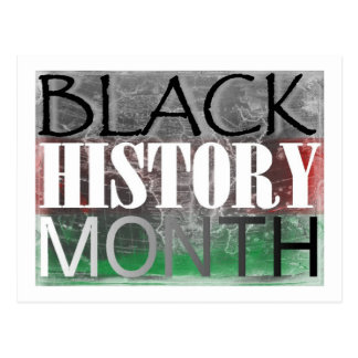 Black History Month (African Flag) Postcard