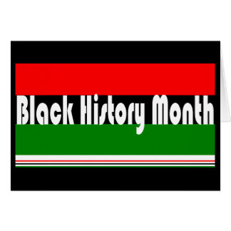 Black History Month Card