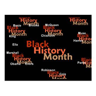 BLACK HISTORY MONTH Postcard