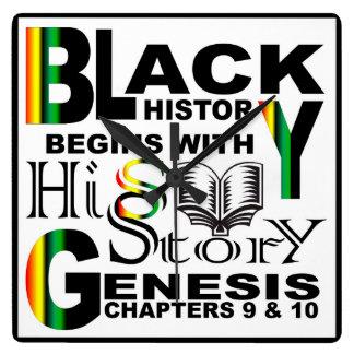Black History Wall Clock