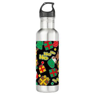 Black - Ho Ho Santa 710 Ml Water Bottle