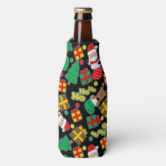 Black - Ho Ho Santa Bottle Cooler