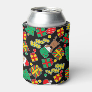 Black - Ho Ho Santa Can Cooler