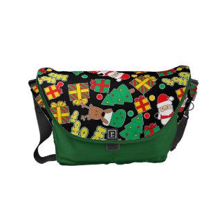 Black - Ho Ho Santa Commuter Bags