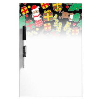 Black - Ho Ho Santa Dry Erase Board