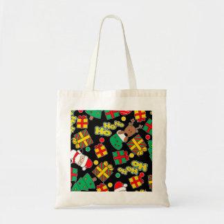 Black - Ho Ho Santa Tote Bag