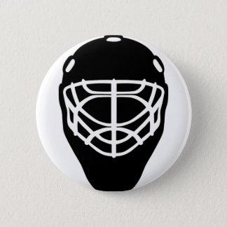 Black Hockey Mask 2 Inch Round Button