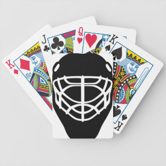 Black Hockey Mask Bicycle Playing Cards