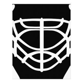 Black Hockey Mask Letterhead