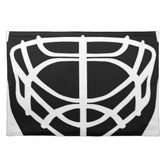 Black Hockey Mask Placemat