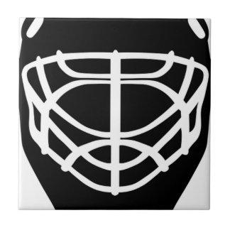 Black Hockey Mask Tile