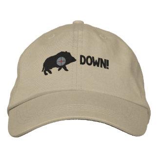 Black Hog Down! Embroidered Baseball Cap